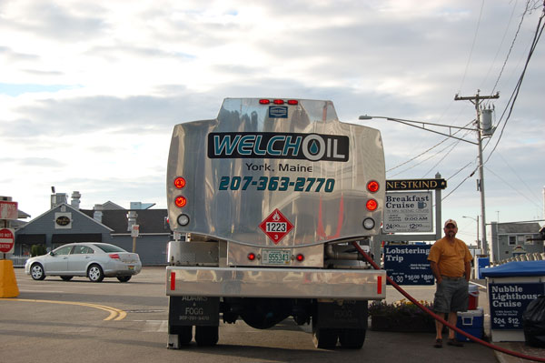 Welch Oil commercial fuel delivery truck